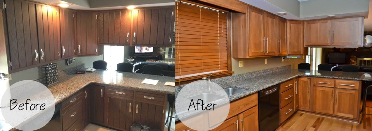Kitchen Cabinets Refacing Before And After kitchen cabinet refacing before and after