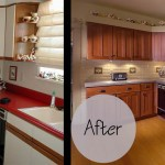 Lyon Kitchen Before and After Cabinet Refacing