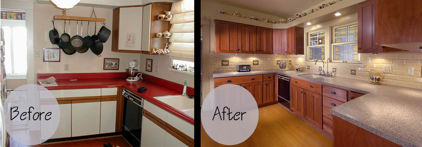 Cabinet refacing gallery wheeler brothers construction for Refinishing kitchen cabinets before and after