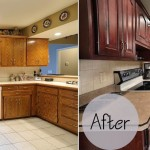 Schrock Before and After Cabinet Refacing