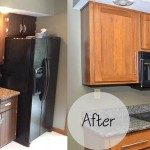 Singleton Before and After Cabinet Refacing