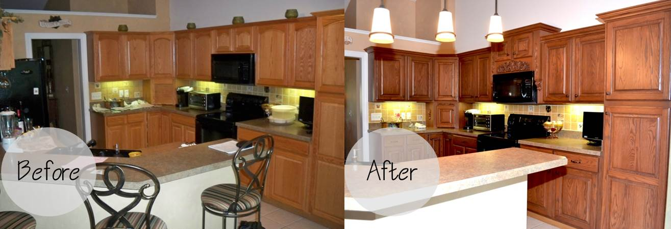 Sullinger Before And After Cabinet Refacing Contractors Bucks County, PA