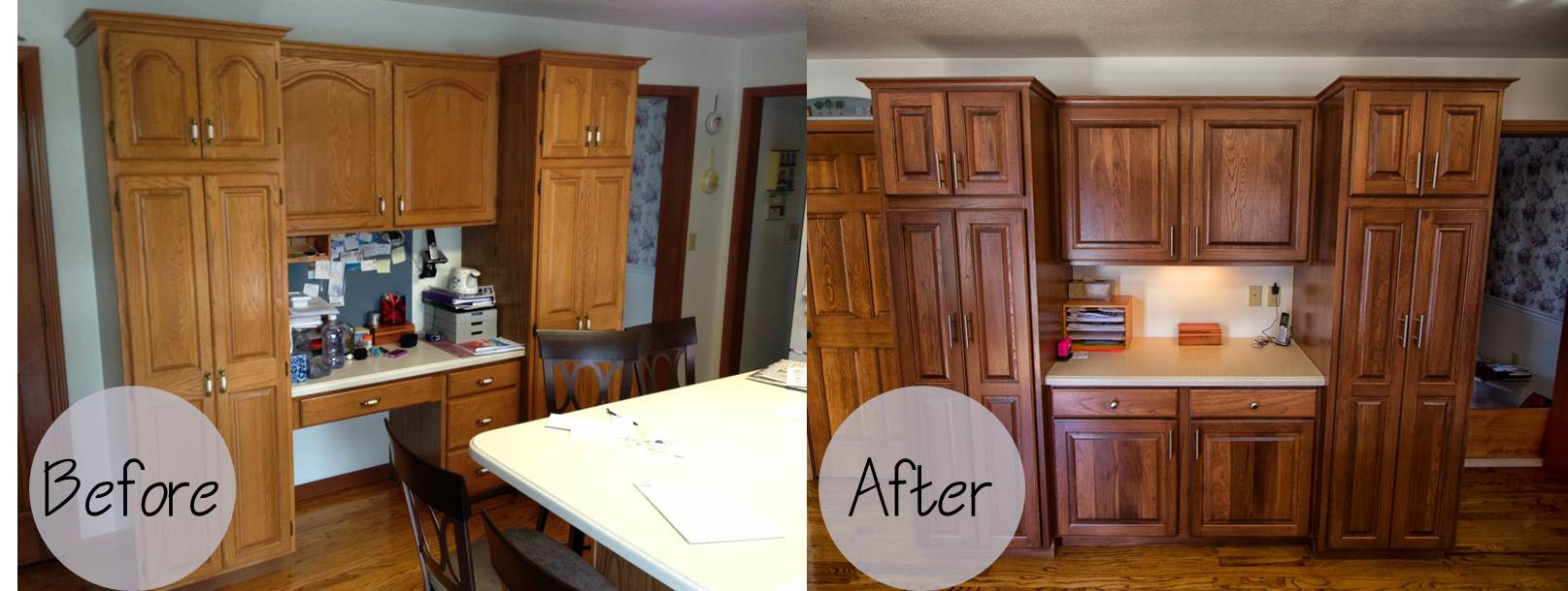 refinished kitchen cabinets before and after cabinet refacing wheeler brothers construction 25289
